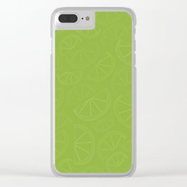 Lemon and Lime Wedges Seamless Pattern Clear iPhone Case