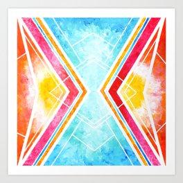 Lake Sunset - Colorful Geometric Art Print