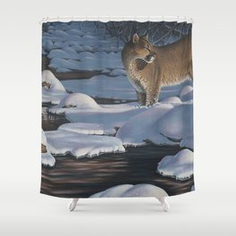 Interrupted Silence Shower Curtain
