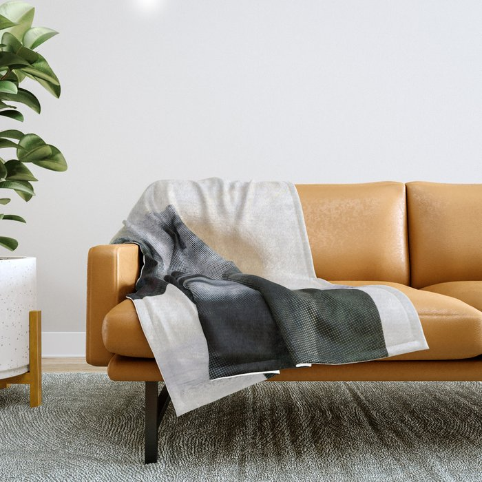Untitled (Painted Composition 8) Throw Blanket