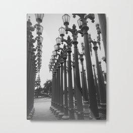 Streetlight Art Exhibit Metal Print