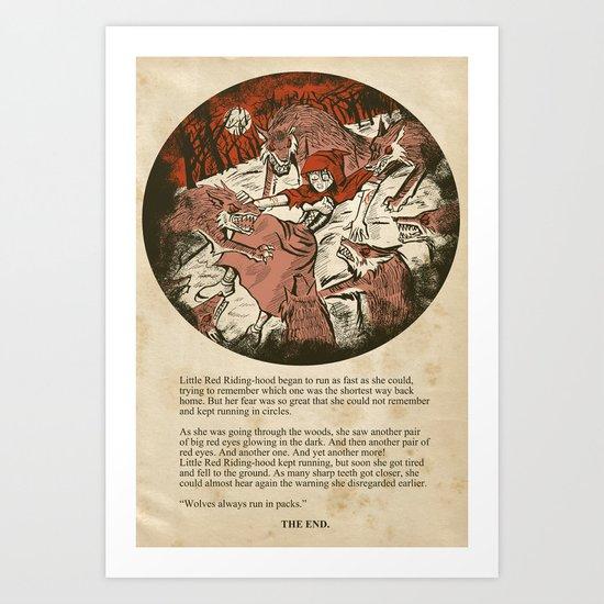 Little Red Riding Hood - Untold Ending Art Print