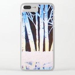 Winter Alders Clear iPhone Case