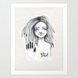 Soy el observador de mis propios pensamientos Art Print