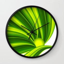 Abstract green 209 Wall Clock