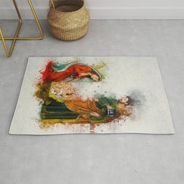 Jesus Is Born Rug