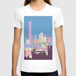 Manchester Skyline Opera House Hilton Hotel Railway City Town Hall England GB UK T-shirt