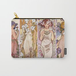 "Alfons Mucha, "" four flowers "" Carry-All Pouch"