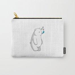Hey Bear Sleeping Polar Bear Carry-All Pouch