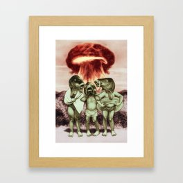 War vacation Framed Art Print