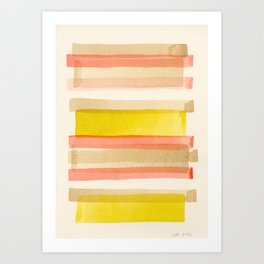 Preppie Stack 02: Abstract Minimalist Watercolor Art Print