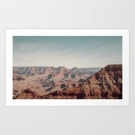 Silence at the Grand Canyon Art Print