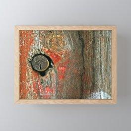 Weathered Wood Texture with Keyhole Framed Mini Art Print