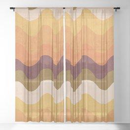 Abstract No.14 Sheer Curtain