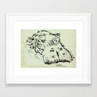 hippo Framed Art Prints featuring Hippo by Julia Kisselmann