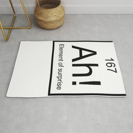 Ah The Element of Surprise T-Shirt Gift for Science Geek Short Sleeve Unisex T-Shirt Rug