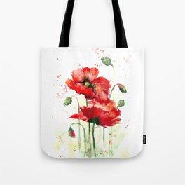 Watercolor flowers of aquarelle poppies Tote Bag