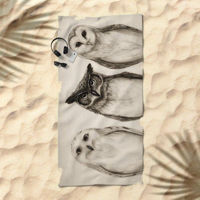 The Owl's 3 Beach Towel