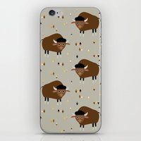buffalo iPhone & iPod Skins featuring Buffalo by Heleen van Buul