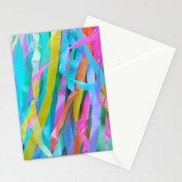 Rainbow Streamers Stationery Cards
