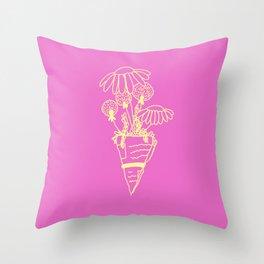 Bouquet (pink) Throw Pillow