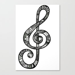 Treble Clef - ANALOG Zine submission Canvas Print