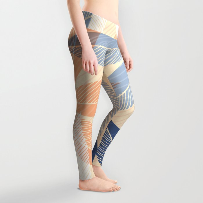 Modern Hawaiian Print II Leggings