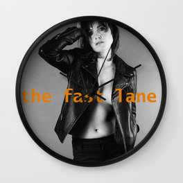 Get Into The Fast Lane Wall Clock