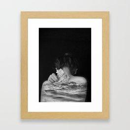 Flower and sea Framed Art Print