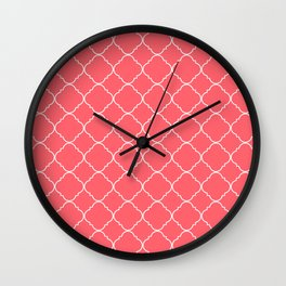 Coral Red Moroccan Wall Clock