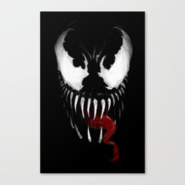 Venom, Spider man Enemie Canvas Print