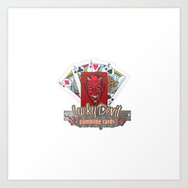 Lucky Devil Gambling Cards Art Print
