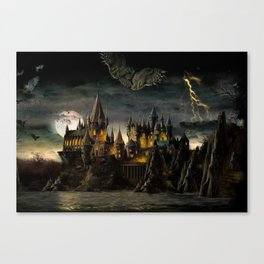 Hogwarts Night Canvas Print