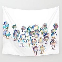Winter Birds Wall Tapestry