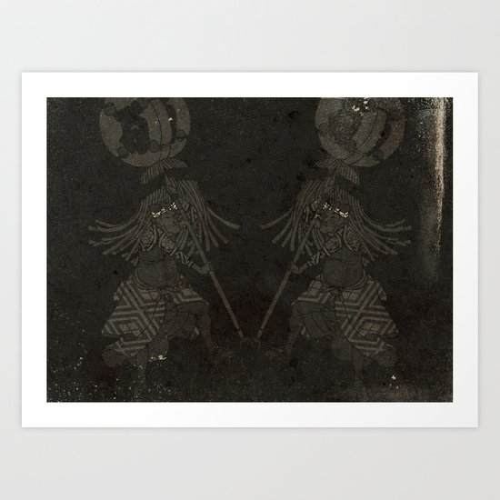 Japanese Fireman Art Print