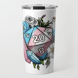 Pride Transgender D20 Tabletop RPG Gaming Dice Travel Mug