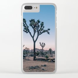Joshua Tree at Sunset Clear iPhone Case