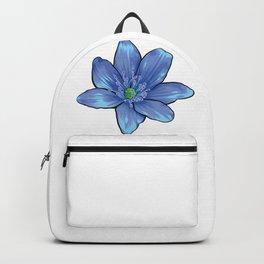 Blue Gentian Flower Backpack