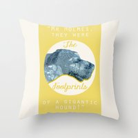 the hound Throw Pillows featuring HOUND. by LiseRichardson