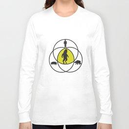 Funny Manbearpig Man Bear Pig Venn Diagram Tv Show Pig T-Shirts Long Sleeve T-shirt