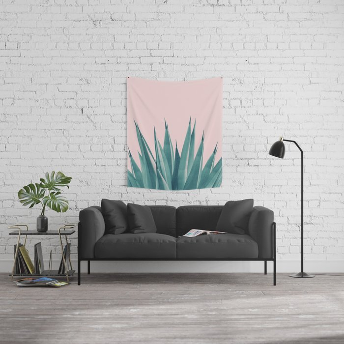 Blush Agave Dream #1 #tropical #decor #art #society6 Wall Tapestry