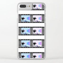 Movie stripes Clear iPhone Case