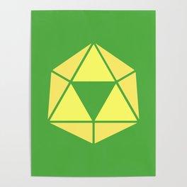 Zelda - Triforce D20 Poster