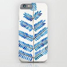 Blue Leaflets Slim Case iPhone 6