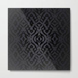 Grey tribal shapes pattern Metal Print