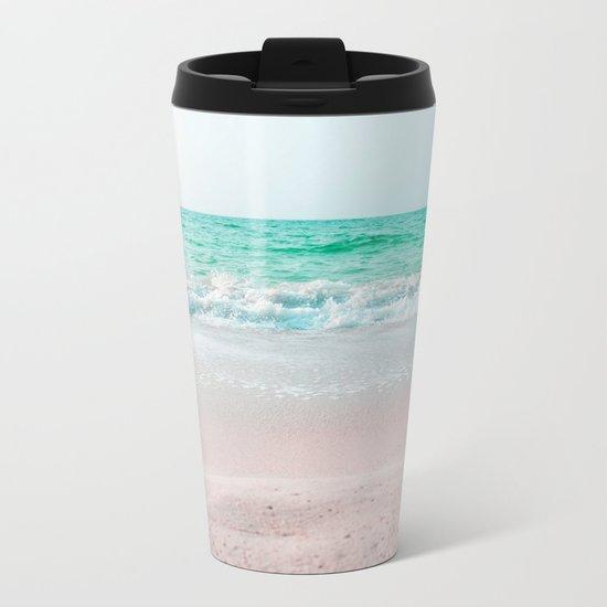 Faded Ocean Metal Travel Mug