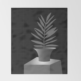 Lola Pot #2 Black Throw Blanket