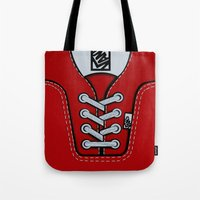 vans Tote Bags featuring Red Vans shoes iPhone 4 4s 5 5s 5c, ipod, ipad, pillow case and tshirt by Three Second