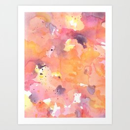 Abstract Watercolor Colorful Painting Art Print