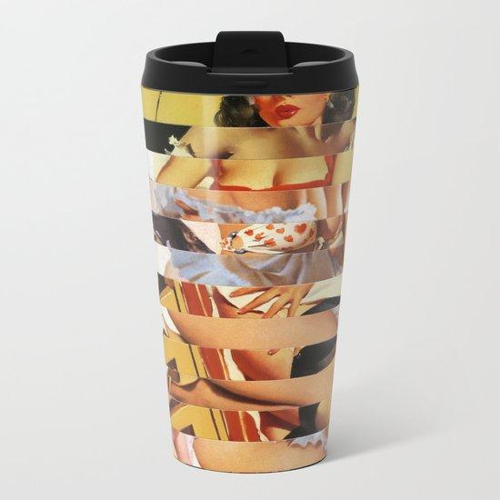 Glitch Pin-Up Redux: Vanessa Metal Travel Mug